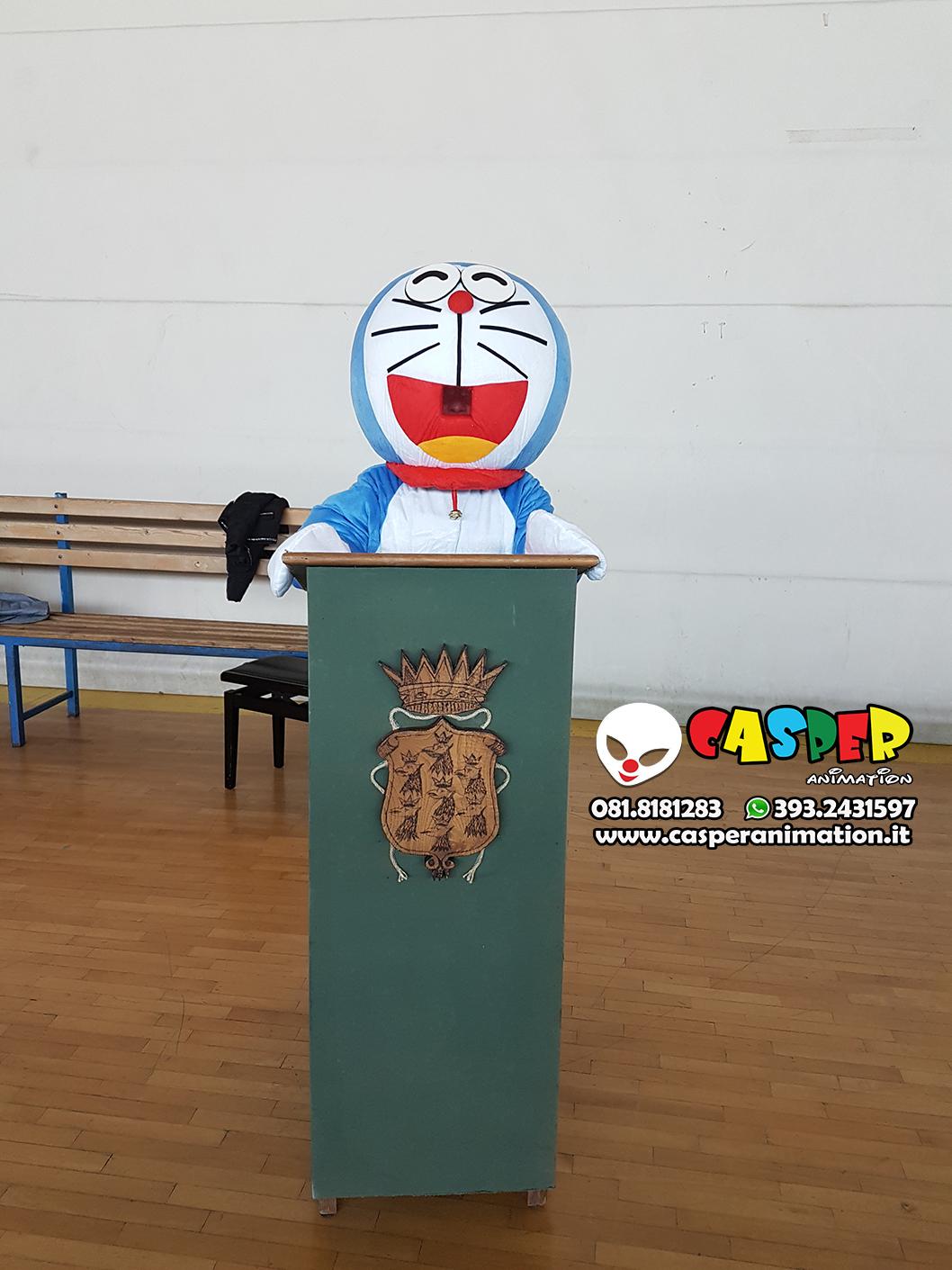 Doraemon Mascotte Gommapiuma Costume Doraemon