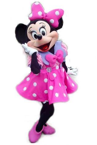 Mascotte Minnie elegante fuxia