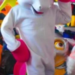 Mascotte Unicorno gommapiuma
