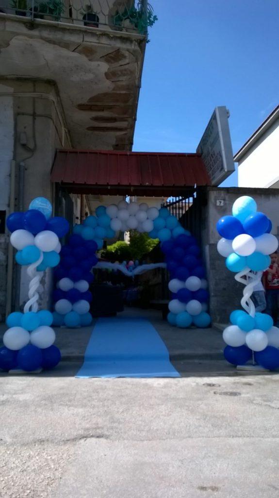 Arco con Palloncini Azzurro