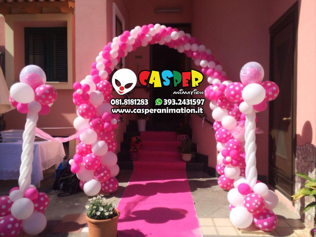 Arco con palloncini rosa - fuxia