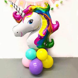 unicorn mylar centrotavola